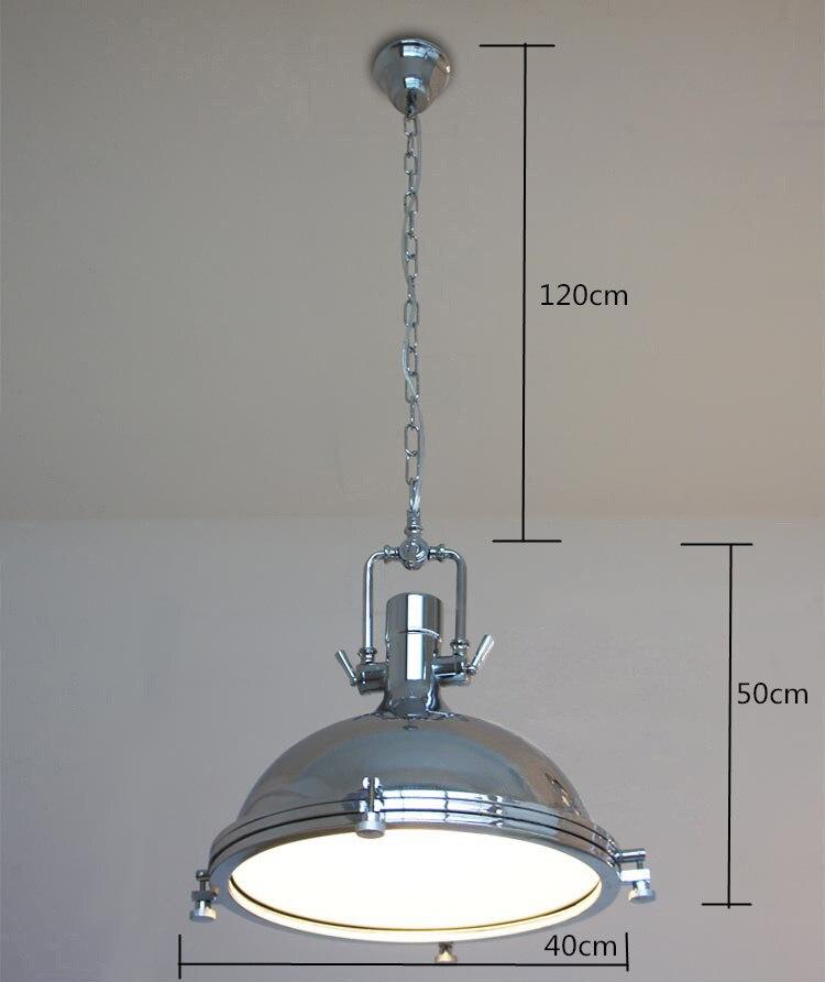 Image 4 - Vintage Loft Pendant Lights Wrought Iron Retro Edison Hanging Lamp Industrial Bar Living Room Chrome pendant Lamps ZDD0010-in Pendant Lights from Lights & Lighting