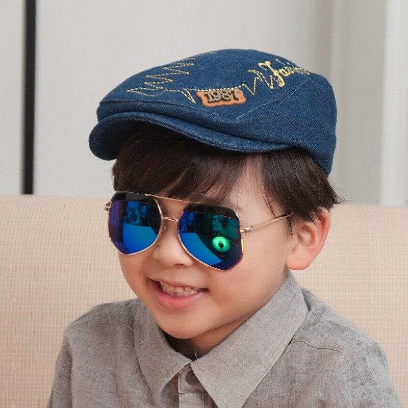 2016 anak baru populer terbaik mepet berkualitas baik denim surat boy gadis  promosi snapback topi hip hop topi baseball murah 556103926b40