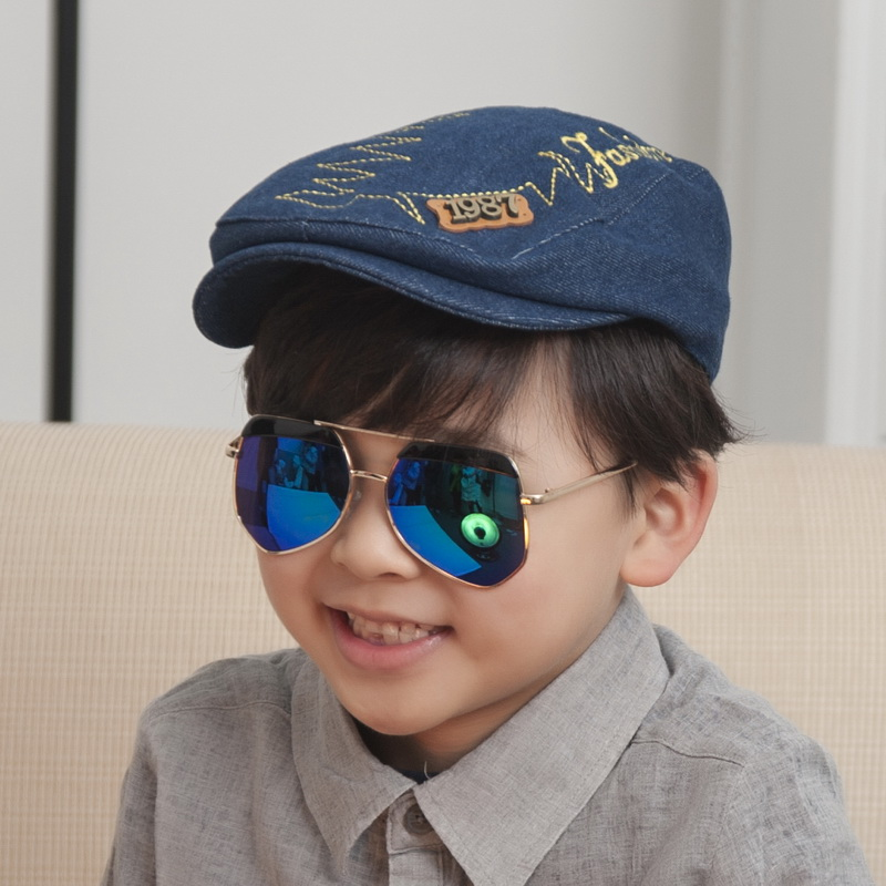 2016 new popular children best casquette good quality denim letter boy girl hip hop baseball cap cheap promotion snapback hats