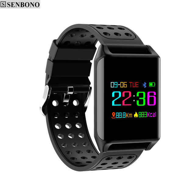 SENBONO M7 colorful  OLED screen sport smart band IP67 waterproof  support heart rate blood pressure predometer