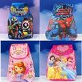 4 unids Avengers hombre araña de la princesa Sofia Cartoon Kids morral del lazo de la escuela de compras del partido de viajar bolsas de regalos 33 * 36 CM