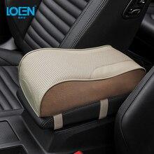 Из натуральной кожи автомобиля центральный подлокотник консольный ящик подушка-накладка Защитный чехол подлокотник сиденье накладки на коробку ding авто аксессуары