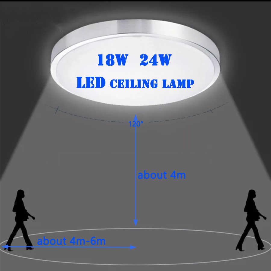 Ceiling LED lamp Radar induced  18W/24W 110V/220V corridor corridor staircase corridor household ceiling lamp