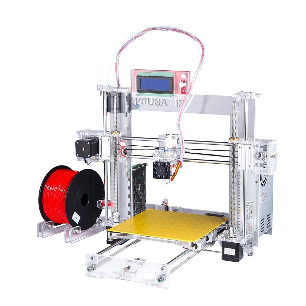Hot Full Acrylic Quality High Precision Reprap Prusa i3 LCD DIY 3d Printer Kit with 2 KG Filament 8G SD card for Free внешний жесткий диск transcend ts1tsj25d3 1tb usb
