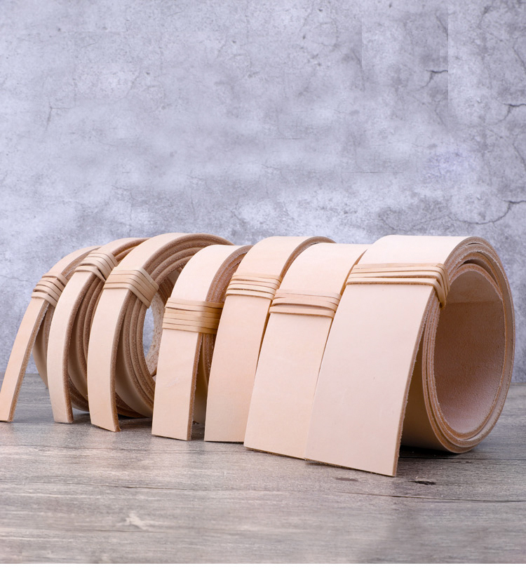 Belt Leather DIY Material  Vegetable Tanned Leather Strap For Bags For Belts 3.5-4.0 Mm Thickness More Size Available