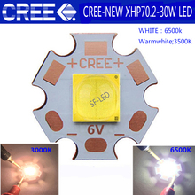 1PCS 2018 Newest High Power Cree XHP70.2 White 6500K / Warm 3500K LED Emitter With 20mm DTP Copper MCPCB