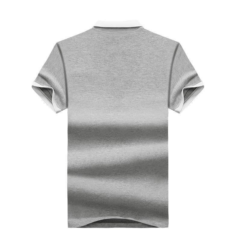 Mens Polo Shirt Summer Style Men Business Casual Solid Color Short Sleeve Polo Shirt Slim Cotton Polo Shirt Men Fake Pocket 28