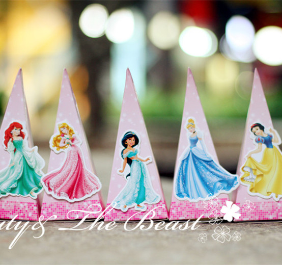 Six Princess Candy Box Gift Box Wedding Box Dessert Kids Party Supplies Birthday Party Decorations Kids Event Baby Shower