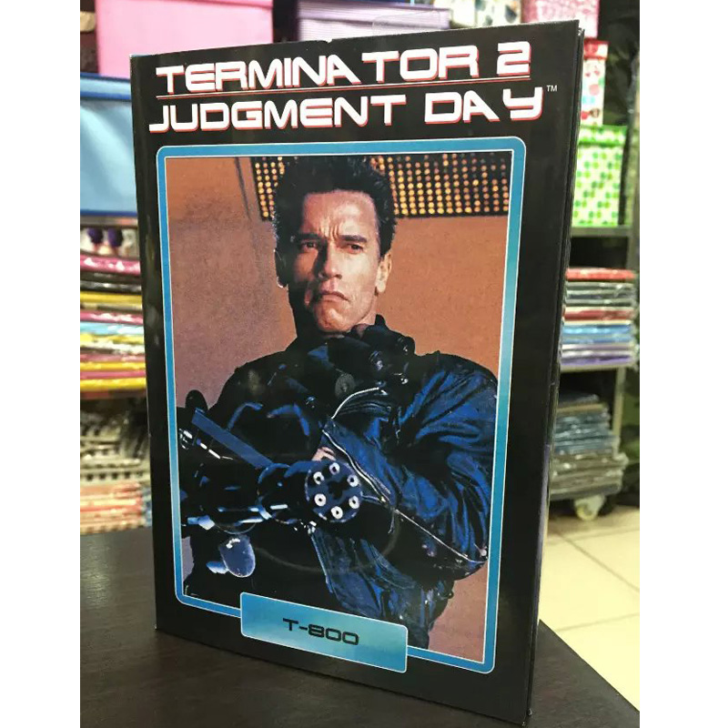 NECA Terminator 2 Judgment Day T-800 Arnold Schwarzenegger PVC Action Figure Collectible Model Toy 7 18cm KT1818 neca batman begins bruce wayne joint movable pvc action figure collectible model toy 7 18cm