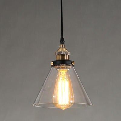 ФОТО Loft Style Industrial Edison Vintaget Pendant Light Lamp In Glass Shade Free Shipping