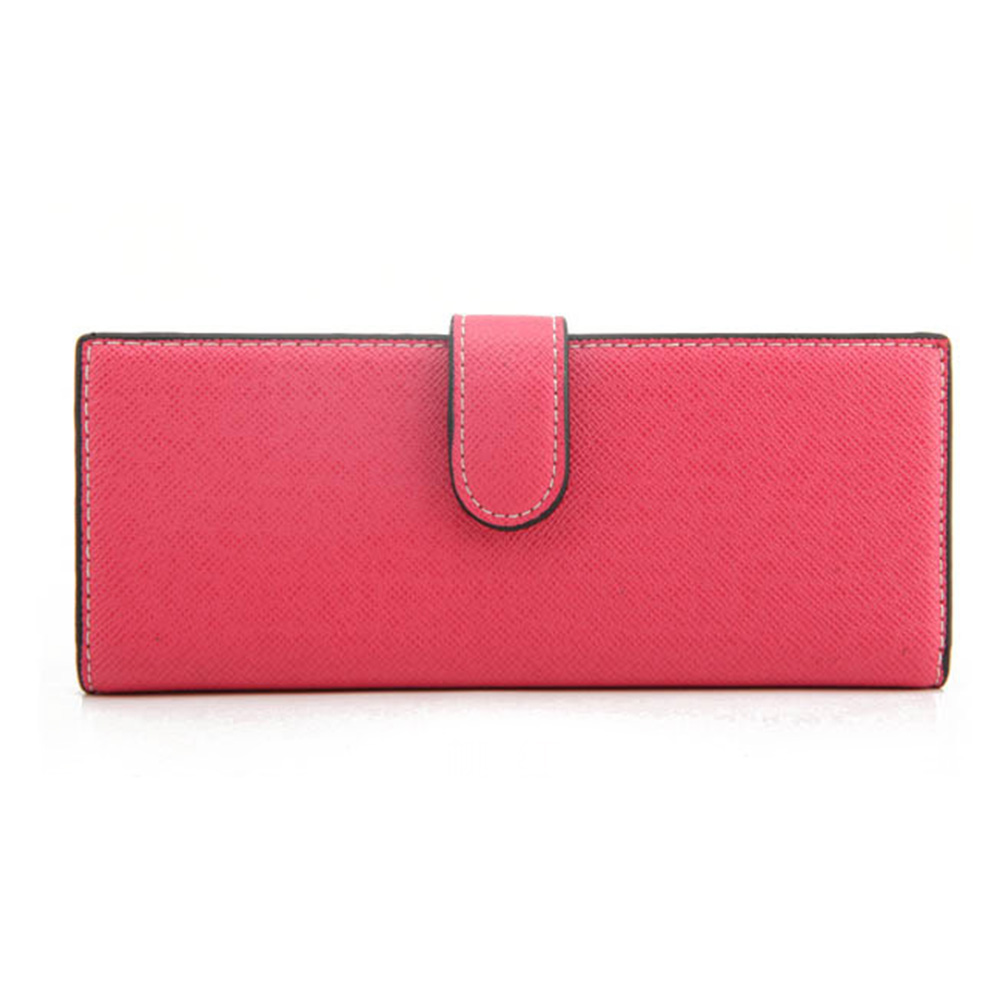 7 Colors Solid Fashion Hasp Women Card Holder Unisex Long Design PU Leather Card Holder Men Card Holder in Card ID Holders from Luggage Bags