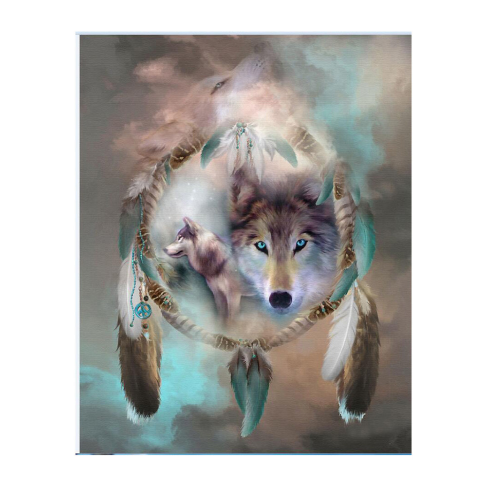 Fantastische DIY Mysterieuze Dreamcatchers Diamant Borduurwerk Diamant Schilderij Mooi Wolf Eagle Mozaïek Gift Mazayka Diamond 4 Types
