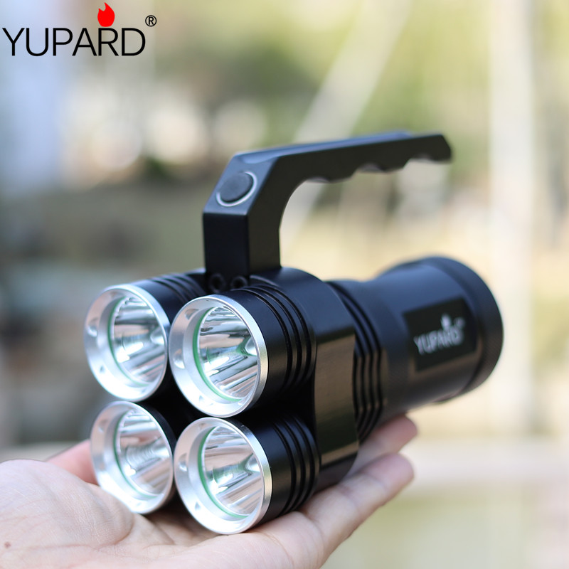 YUPARD 4*XM-L2 T6 LED 18650 rechargeable batter Spotlight Searchlight tactical Torch bright Flashlight camping hunting fish lamp diesel suction control valve 8 98043687 0 scv 294200 0650 for mazda