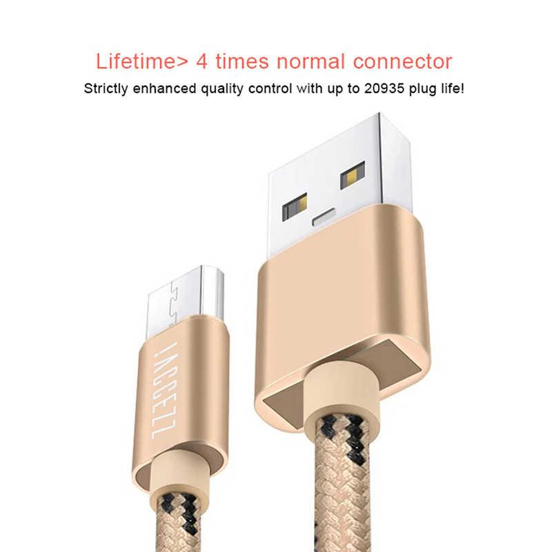 ! ACCEZZ USB مزامنة كابل شحن المصغّر USB ل Xiaomi لسامسونج غالاكسي S7 S6 لهواوي الروبوت الهاتف شاحن سريع الحبل خط