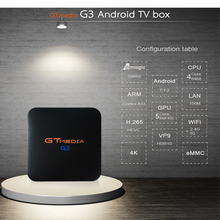 GT MEDIA G3 TV BOX Android 7.1.2 OS Smart TV Box 2GB 16GB Amlogic S905X Quad Core 2.4GHz WiFi Set top box 1GB 8GB X96 mini недорго, оригинальная цена