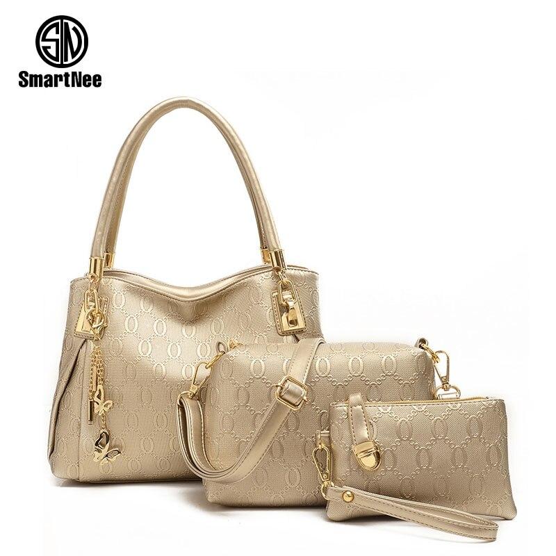 Smartnee 3 Pcs font b Set b font Vintage font b Handbags b font Women Messenger