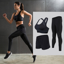 Women Yoga Sets Sports Bras Compression Pants and Shorts Running Gym Yoga Sexy Bras Capris Elastic