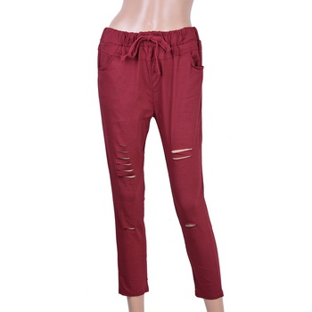 Drawstring Elastic Waist Pencil Pant 1