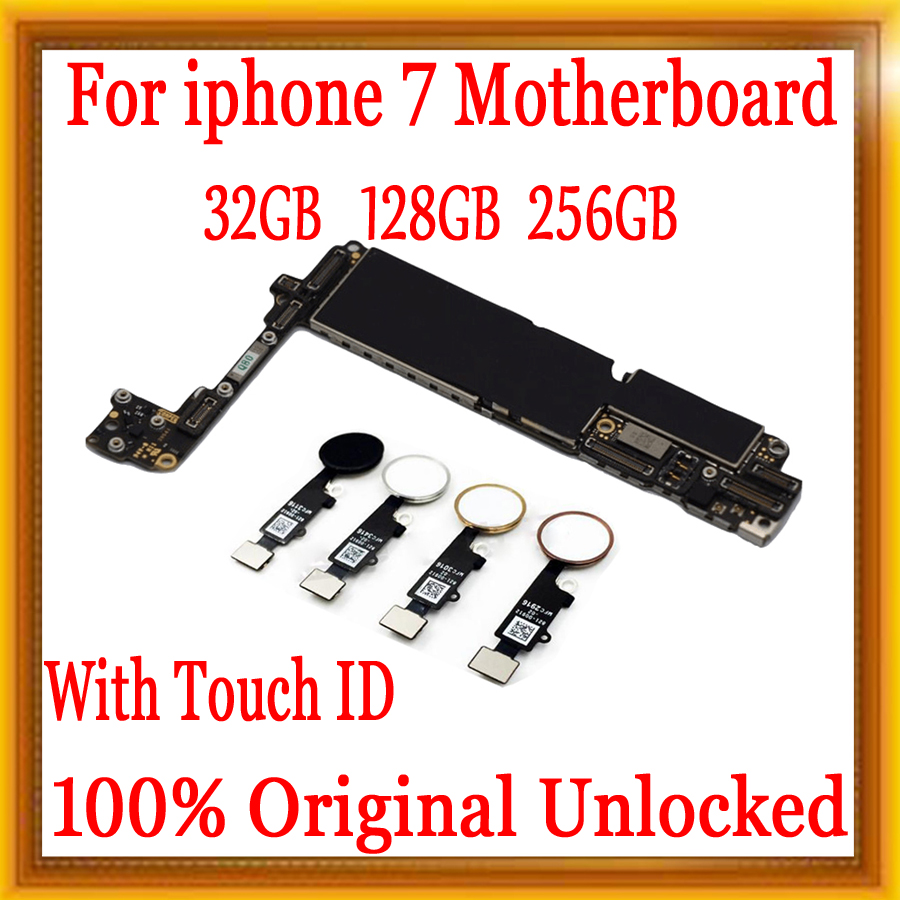 32gb / 128gb / 256gb for iphone 7 Motherboard With Touch ID/Without Touch ID,100% Original