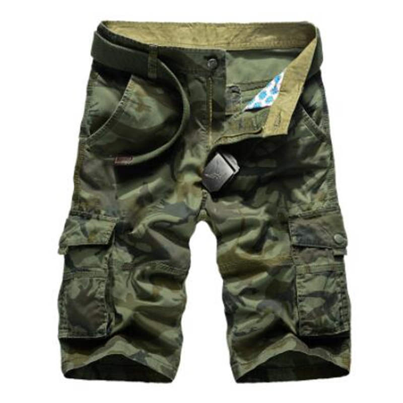 Casual Shorts Military Mens Plus-Size Camouflage New Man Male 29-44