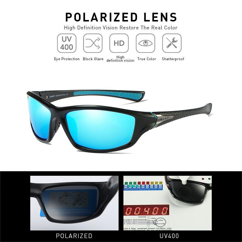 DUBERY Sunglasses Men 39 s Driving Polarized Night Vision Sun Glasses For Men Square Sports Brand Luxury Mirror Shades Oculos D120 in Men 39 s Sunglasses from Apparel Accessories