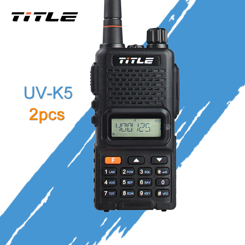 (2 pièces) UV-K4 Radio Portable noir KSUN double bande UHF 400-520 MHZ RADIO FM Radio bidirectionnelle talkie-walkie