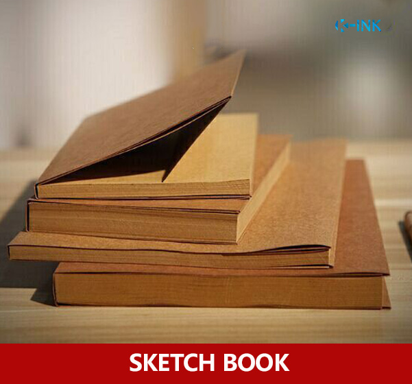 A5 Kraft Paper Sketch Book Notebook Notepad , Kraft SketchBook for Painting Drawing Diary Journal Creative Gift a5 blank sketchbook diary drawing graffiti painting kraft sketch book 80 sheets spiral notebook paper office school supplies