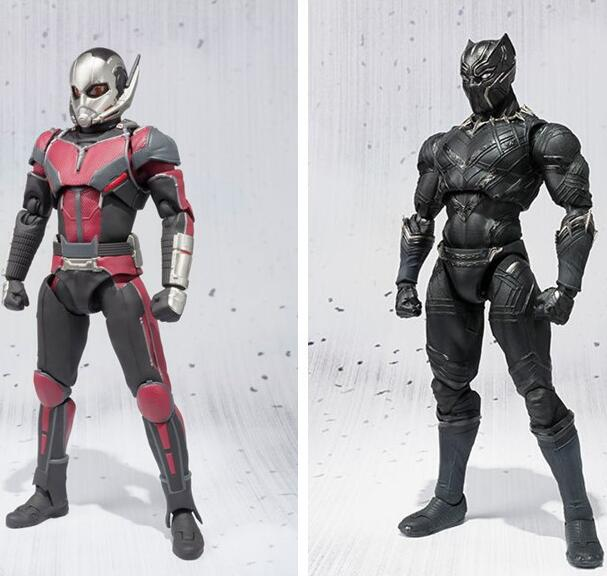 NEW hot 17cm avengers Ant-Man Black Panther movable Action figure toys doll collection Christmas gift with box new hot 14cm pikachu gary oak okido green eevee action figure toys collection christmas gift doll with box