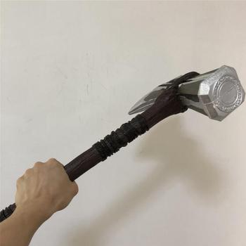 Thor Thunder młotek topór Cosplay burza młotek wojna broń Prop topór 1 1 prezent kostium film 73cm tanie i dobre opinie Z tworzywa sztucznego Europa Nowoczesne Tv movie postaci