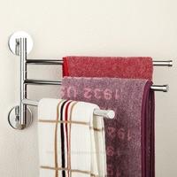 Brass Chrome Polished Three Bars Swivel Holders Towel Bars Rail Rack 3E031502