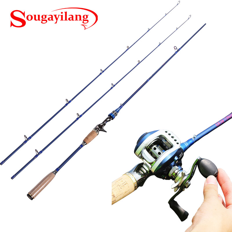 Sougayilang 2 1m carbon lure fishing rod 2 tips m mh power for Casting fishing rod