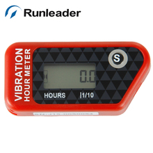 Free Shipping Motocross Wireless Vibration Hour Meter In Red Color for motorcycle pit bike dirt quad bike motocross ATV glider