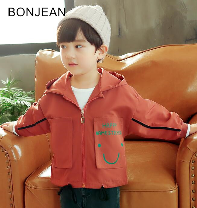 2018 new autumn boy spring and autumn hooded short JACKET children's casual jacket children's clothing tide coat CL26