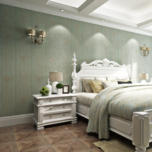 Wood wallpaper american style non-woven bedroom wall