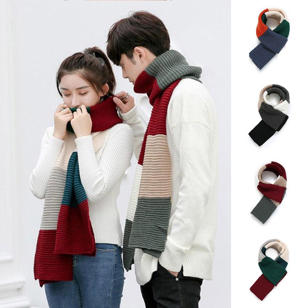 YJSFG HOUSE Women Acrylic   Scarf   2018 New Women Men Unisex Warm Autumn Winter   Scarves   Patchwork Knitting Long   Scarf     Wraps