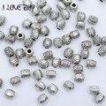 100 pçs/lote Tibetano Prata Banhado Contas Espaçador Soltos contas De Metal Encantos Jewelry Making DIY 10 tamanho para escolher