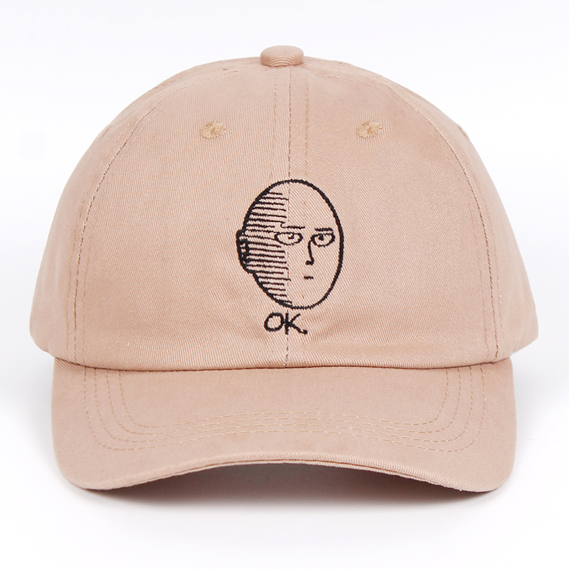 ONE PUNCH-MAN Dad Hat 100% Cotton baseball cap Anime fan embroidery funny Hats for Women Men ok Man One Punch Man Snapback(China)