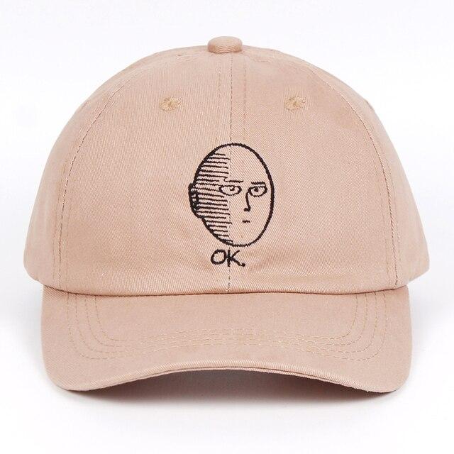 אחד אגרוף-איש אבא כובע 100% כותנה בייסבול כובע אנימה מאוורר רקמה מצחיק כובעי נשים גברים בסדר גבר אחד אגרוף איש Snapback