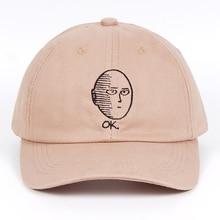 ONE PUNCH-MAN papá sombrero gorra de béisbol de algodón 100% Anime fan  bordado divertido sombreros para las mujeres hombres ok h. 9e48b0160c9