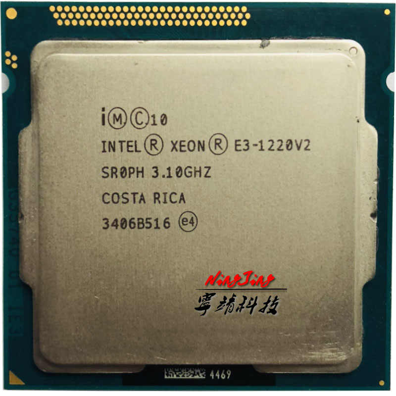 Intel Xeon E3-1220 v2 E3 1220v2 E3 1220 v2 3.1 GHz Processore Quad-Core CPU 8M 69W LGA 1155