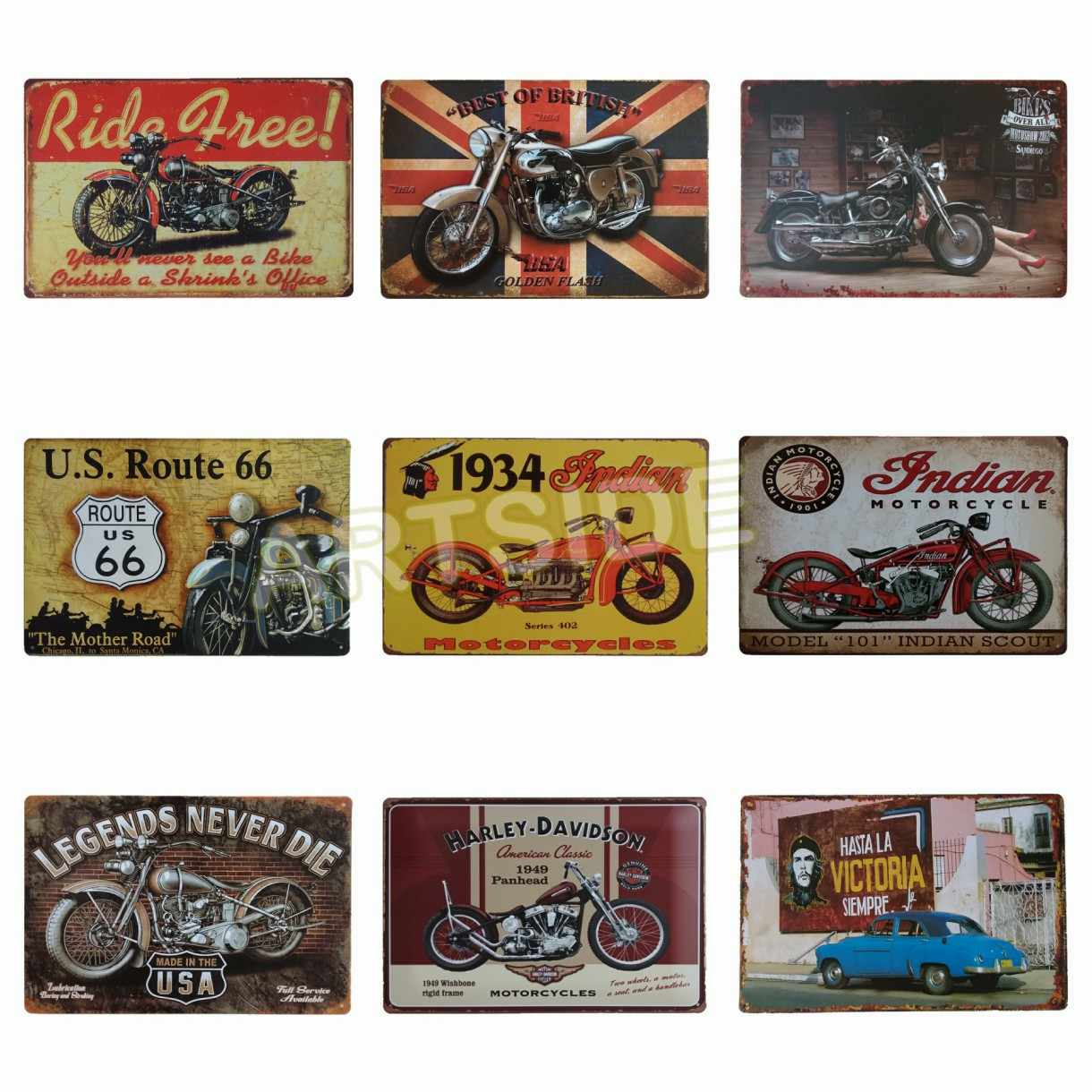 Detail Feedback Questions About Indian Scout Tin Sign Ride Free
