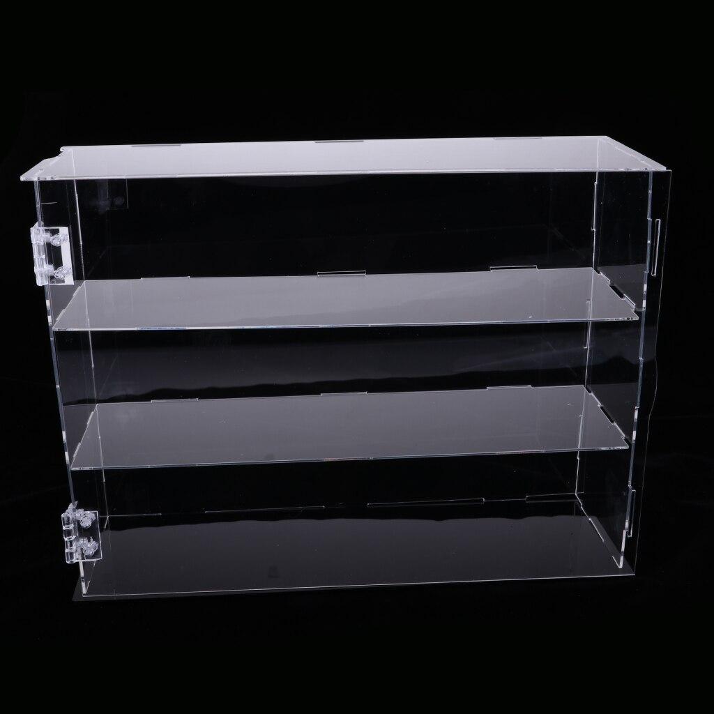 DIY Clear Acrylic TV Action Figure Display Case Jewelry Show Box Dustproof - 24x7x33cm Display Box Vitrina Expositora Figuras coffee table