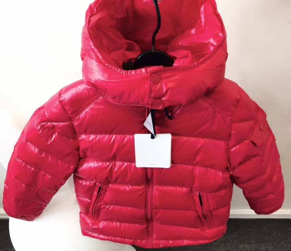 kid down jackets red black yellow white duck down coat for boys girls autumn winter warm down clothes in middle of September ruffled button down blouse in black