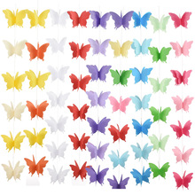 3D Paper Butterfly Garlands Christmas Chain Wedding Party Hanging Decorations Kids Girl Room Romance Decor