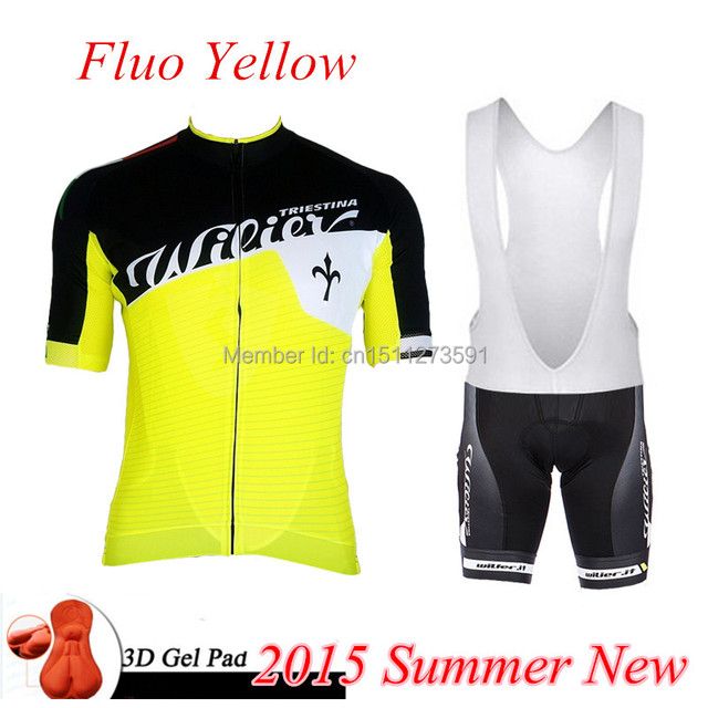 Cycling Jersey 2015 Wilier Fluo Yellow Summer Ropa Ciclismo cycle clothing  men bicycle jersey cycling maillot ciclismo mtb eb0545628