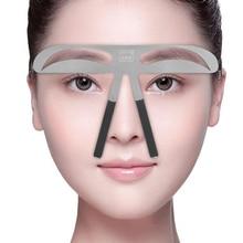 Augenbrauen-Schablone-dauerhafte Make-uptätowierungs-Augenbrauen-Form-Positions-Machthaber DIY Schablone Schönheit, die wiederverwendbares Augenbrauen-kosmetisches Werkzeug pflegt
