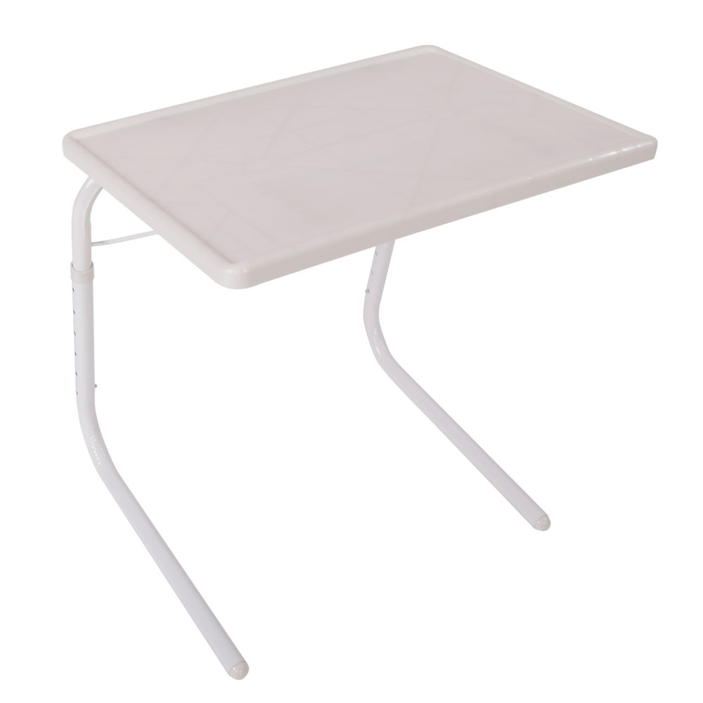 Practical Portable Home Use Foldable Assembled Bed Table White