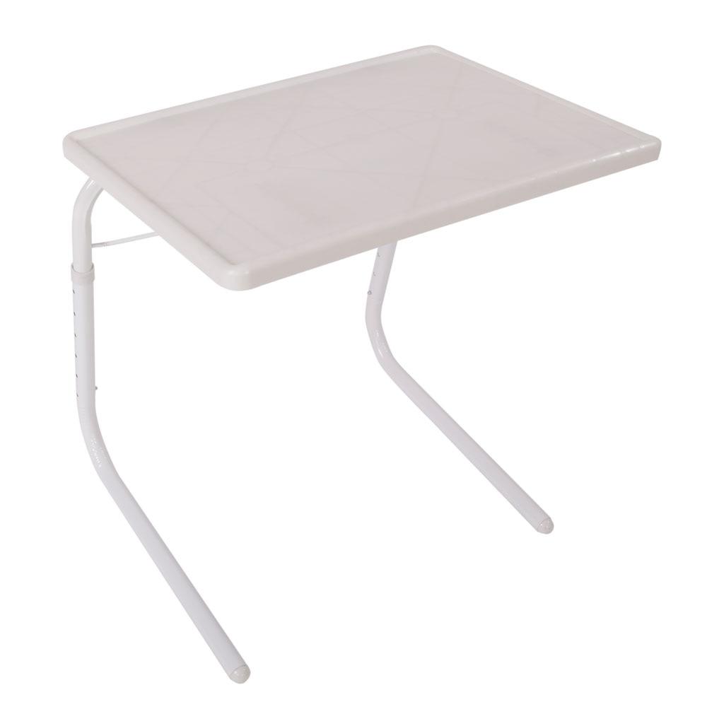 Der GüNstigste Preis Praktische Tragbare Home Use Faltbare Montiert Bett Tisch Weiß