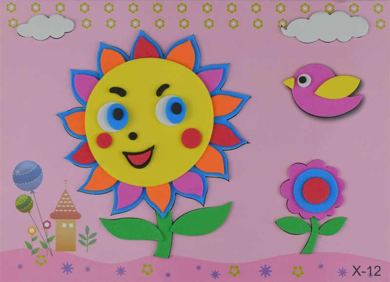 5 листов/Набор EVA 3D наклеивающая бумага детские материалы ручной работы детские игрушки DIY детские головоломки стерео Стикеры