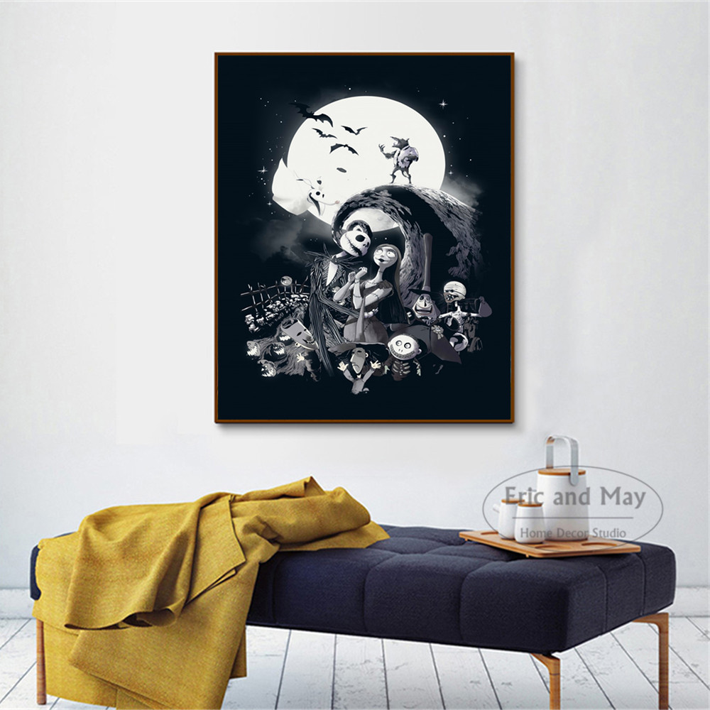 Nightmare Before Christmas Movie Posters And Prints Wall Art Canvas Painting For Living Room Decoration Home Decor Unframed in Painting Calligraphy from Home Garden